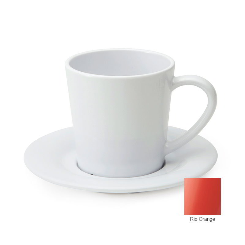 GET C-107-RO 7-oz Cup/Mug, Melamine, Rio Orange