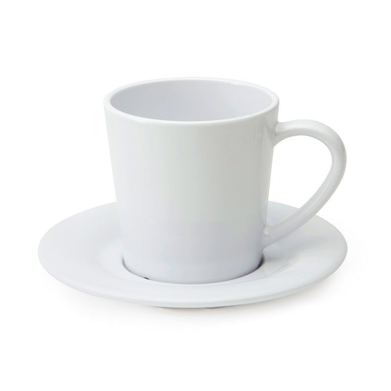 GET C-107-W 8-oz Coffee Cup, Melamine, White