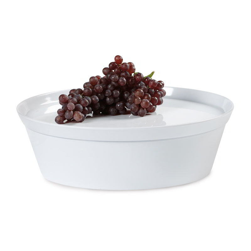 GET CB-935-W 83-oz Serving Bowl w/ Lid - Melamine, White