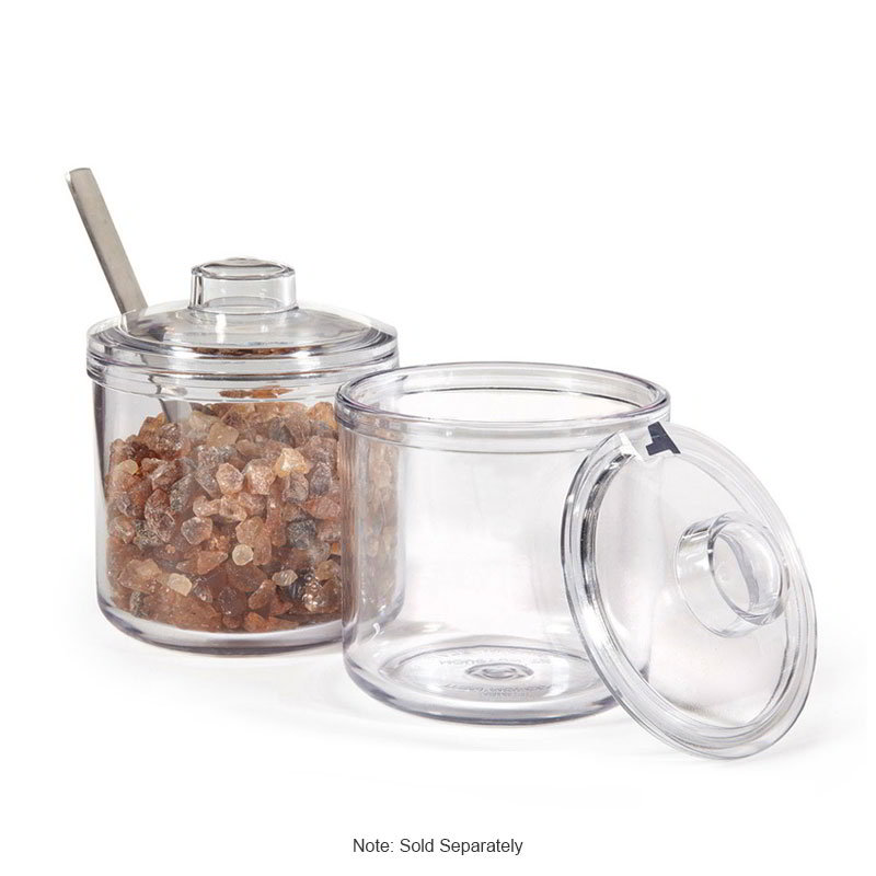 GET CD-8-2-CL 8-oz Plastic Condiment Jar & Cover, Clear Plastic