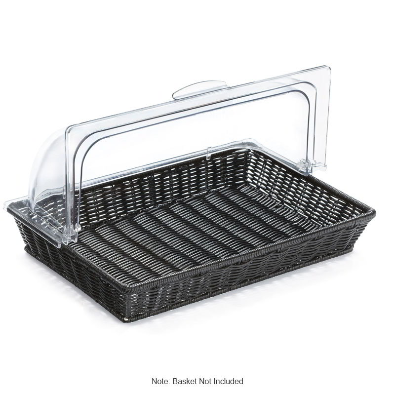 "GET CO-3426 Rectangular Dome Polyweave Basket Cover, for WB-1553, 16.75 x 11.5 x 7"", Clear Plastic"
