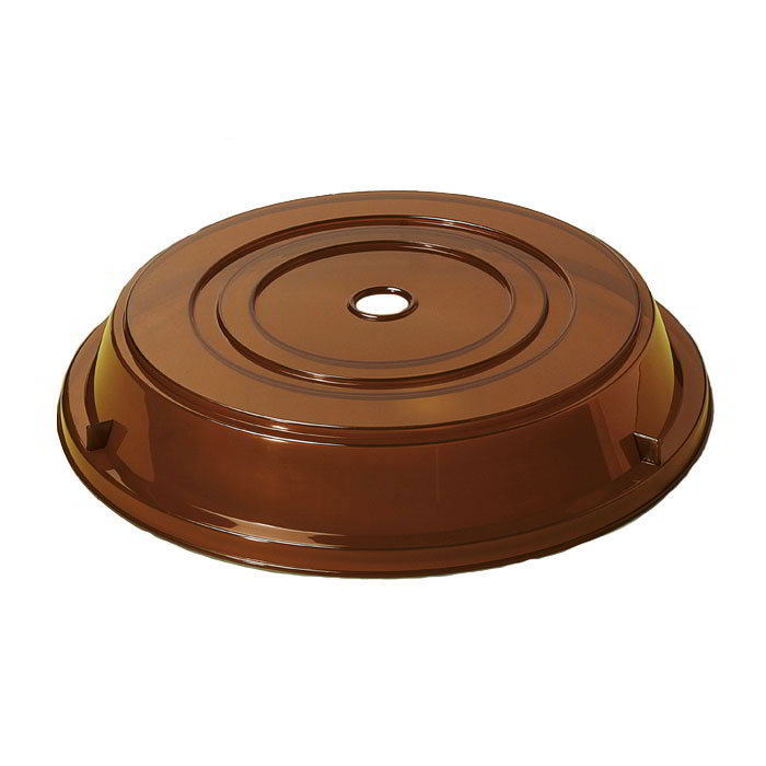 "GET CO-94-A Cover For 9.25"" To 10"" Round Plates, Amber Polypropylene"