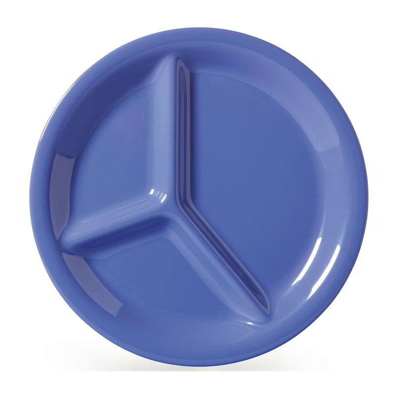 "GET CP-10-PB 10-1/4""3-Compartment Plastic Plate, Peacock Blue"