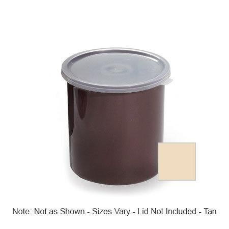 GET CR-0120-T 1.2 qt Salad Crock w/Lid, Plastic, Tan