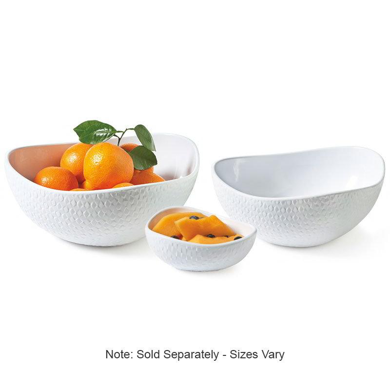 "GET CS-1090-CN-W 10.5"" Triangular Bowl w/ 3-qt Capacity, Melamine, White"