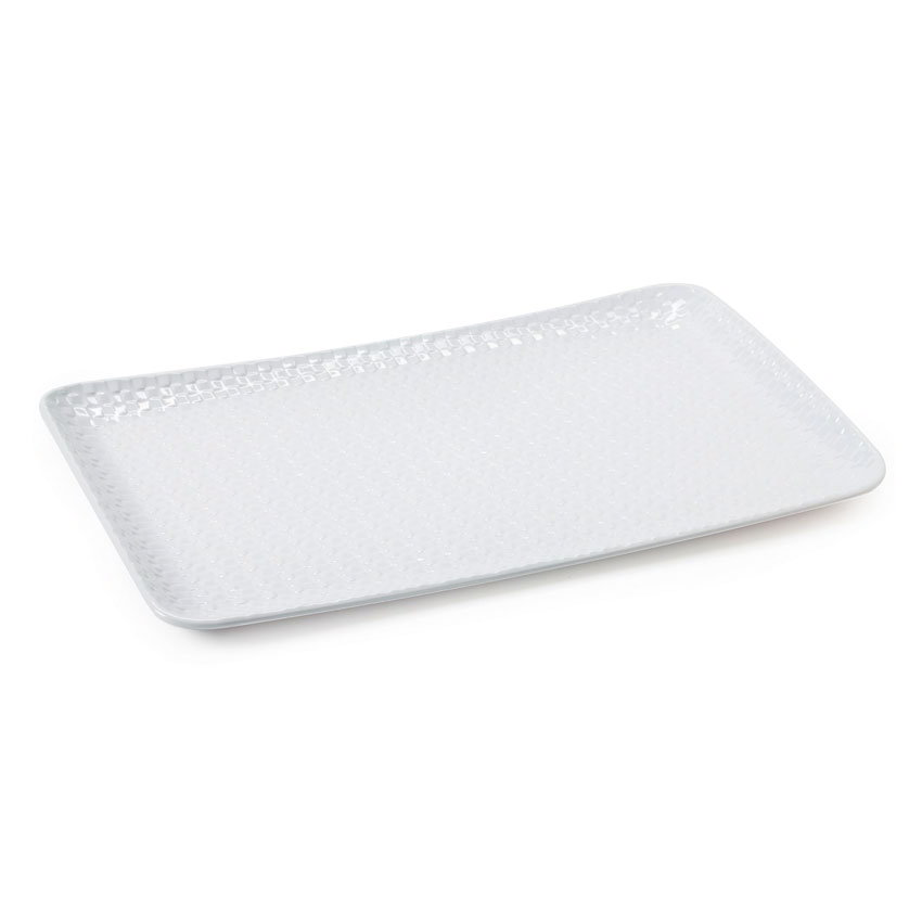 """GET CS-1811-CN-W Rectangular Serving Platter, 18"""" x 11"""", Melamine, White"""