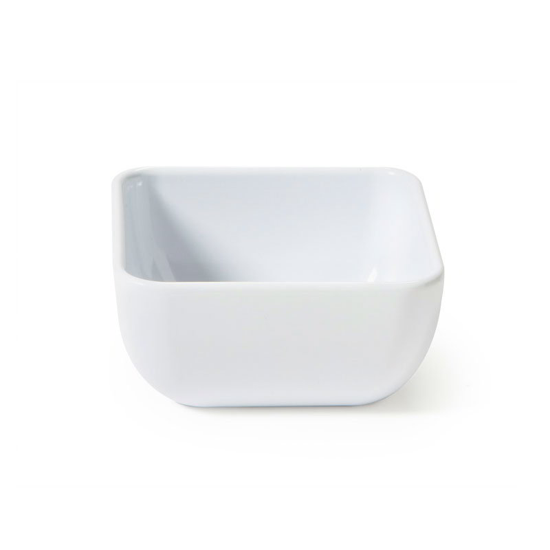 "GET CS-4722-W 4.75"" Square Bowl w/ 16-oz Capacity, Melamine, White"