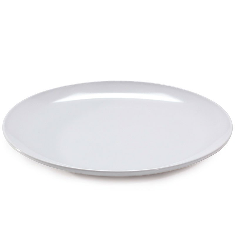 "GET CS-6102-W 12"" Round Dinner Plate, Melamine, White"