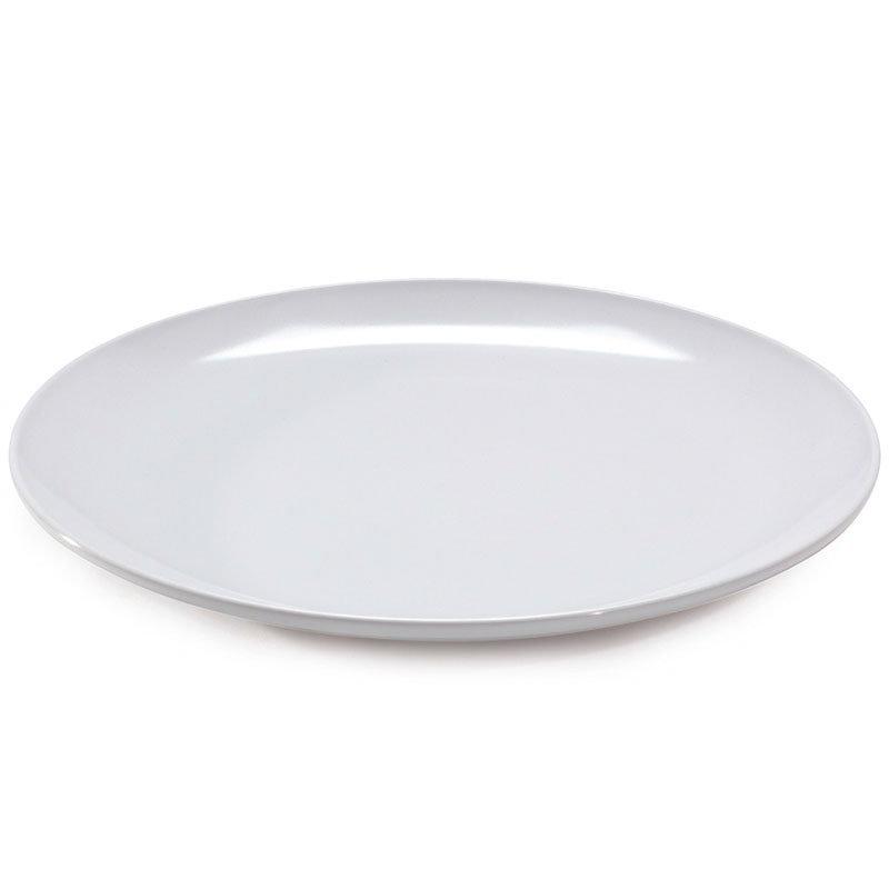 """Get CS-6108-W 14"""" Siciliano/ Mama Mia Plate, White Melamine"""