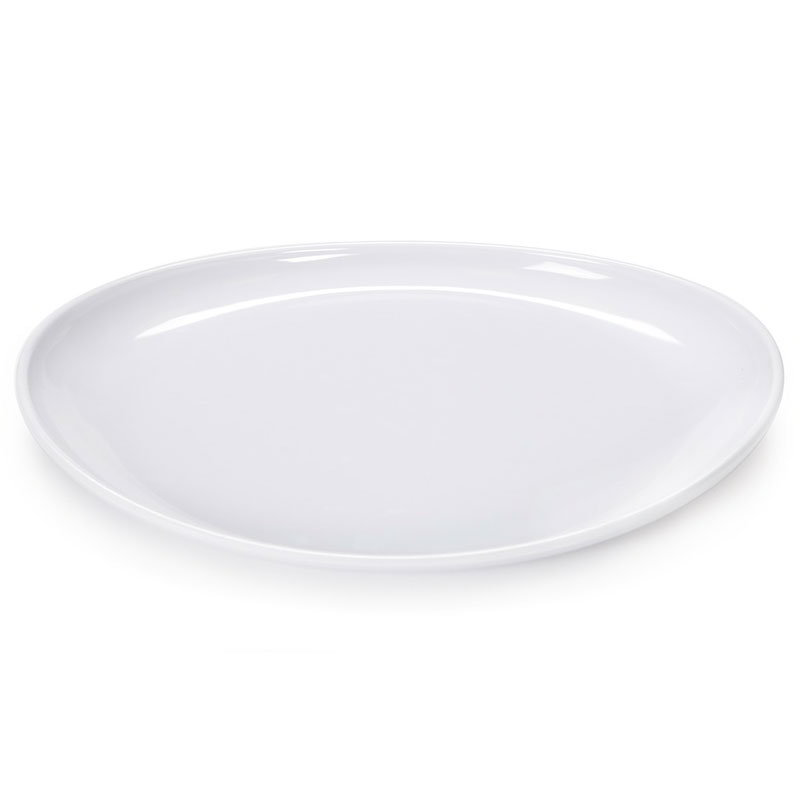 "GET CS-6112-W Oval Serving Platter, 13.25"" x 9.5"", Melamine, White"