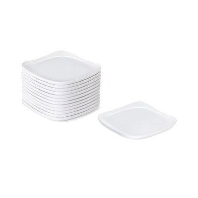 "GET CS-6115-W 5"" Square Plate, Melamine, White"