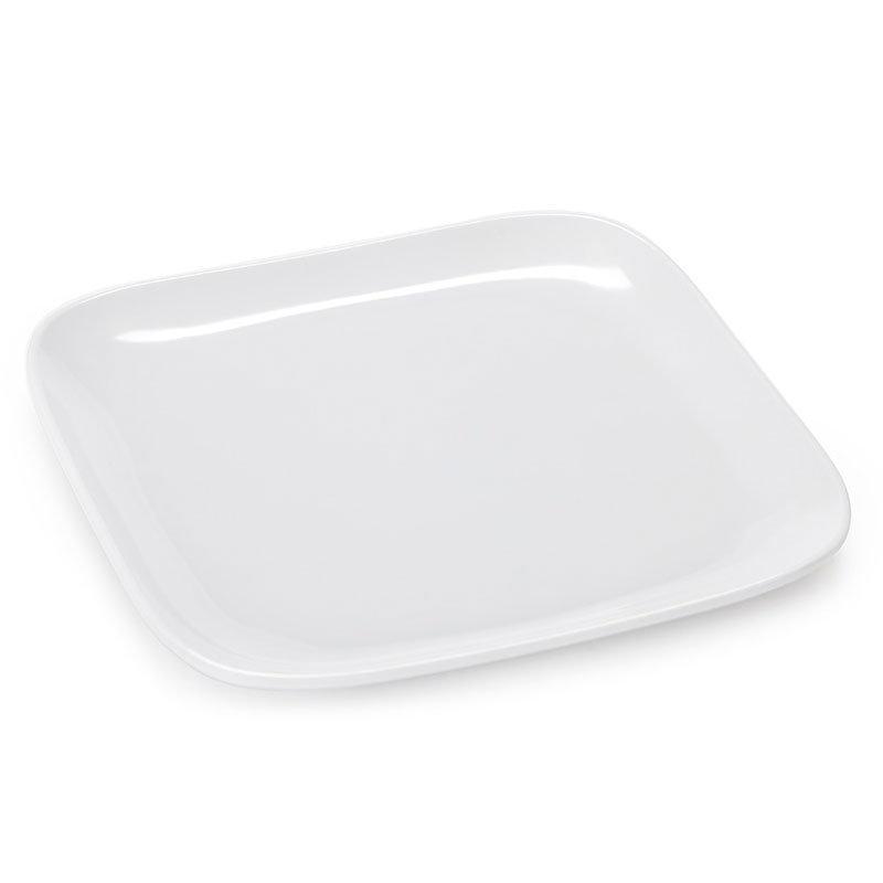 "GET CS-6116-W 6"" Square Plate, Melamine, White"