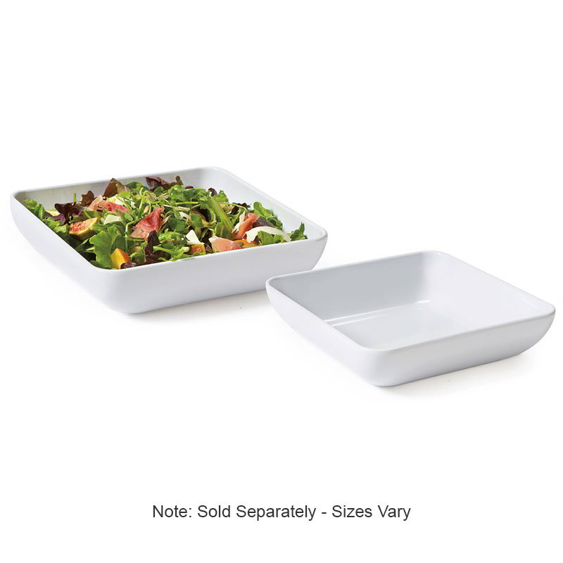 "GET CS-9236-W 9"" Square Bowl w/ 2.3-qt Capacity, Melamine, White"