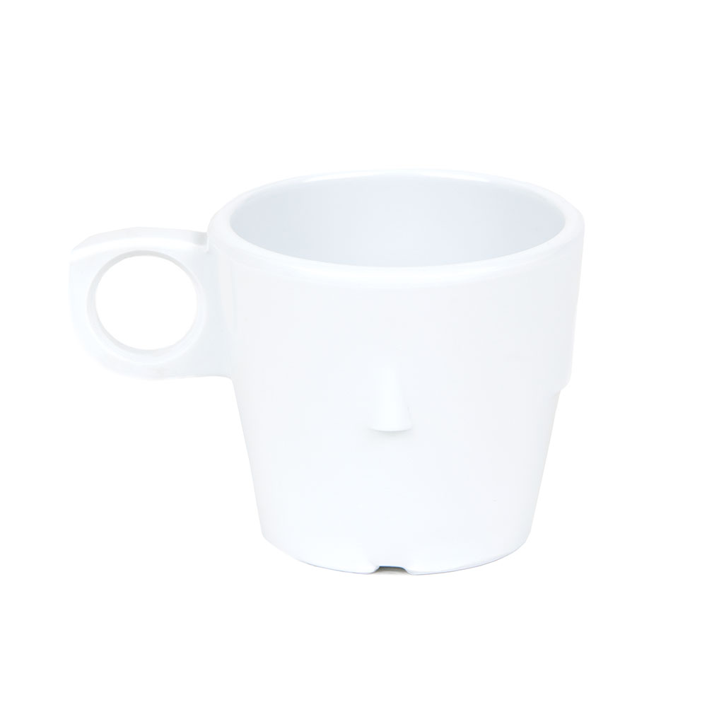Get DC-101-W 7-1/2-oz Conic Stacking Cup, Melamine, White, Supermel