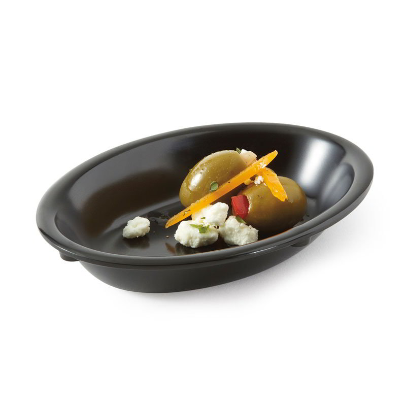 GET DN-365-BK Supreme 1 Side Plastic Dish, 5-oz, Black
