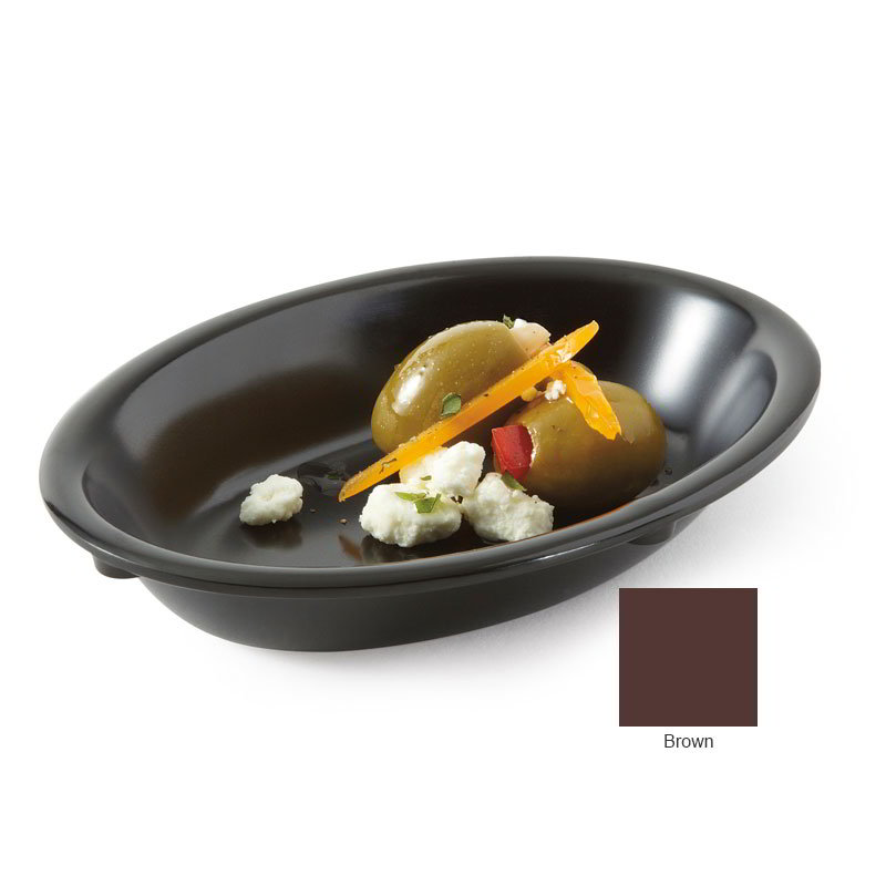 "GET DN-365-BR 5-oz Supermel I Side Dish, 6 x 4.5 x 1"" Deep, Brown Melamine"