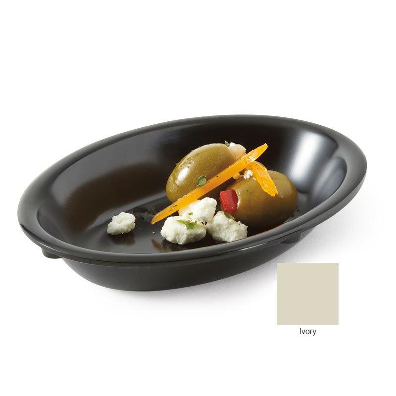 """GET DN-365-IV 5-oz Supermel I Side Dish, 6 x 4.5 x 1"""" Deep, Ivory Melamine"""