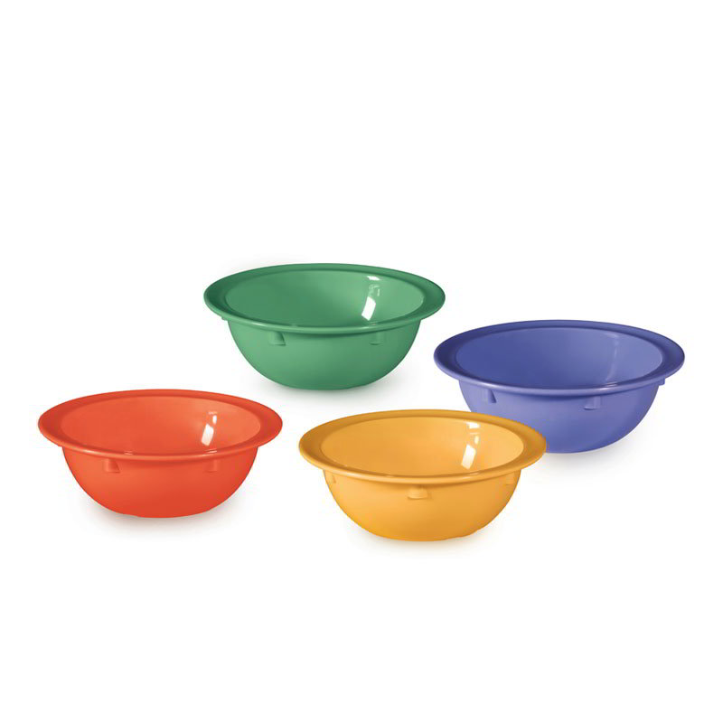GET DN-904-MIX 5-oz Supermel Grapefruit Plastic Bowl, Mix Pack Of Mardi Gras Colors