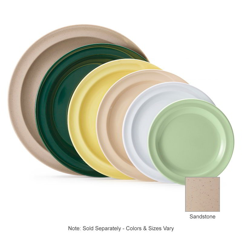 "GET DP-505-S 5-1/2""Bread & Butter Plastic Plate, Sandstone, Supermel"