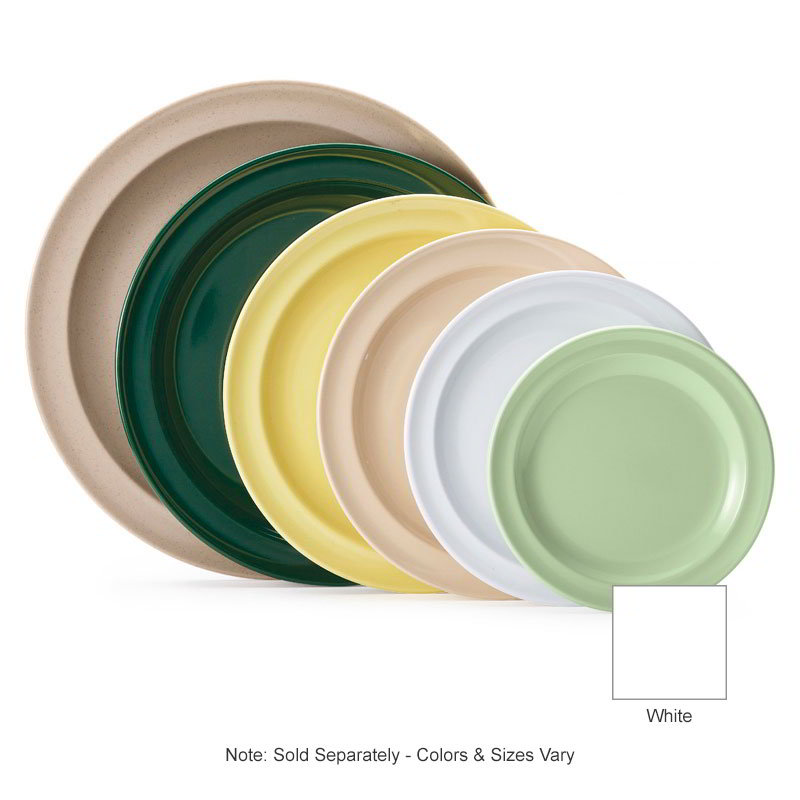 "GET DP-508-W 8""Lunch Plate, Melamine, White, Supermel"