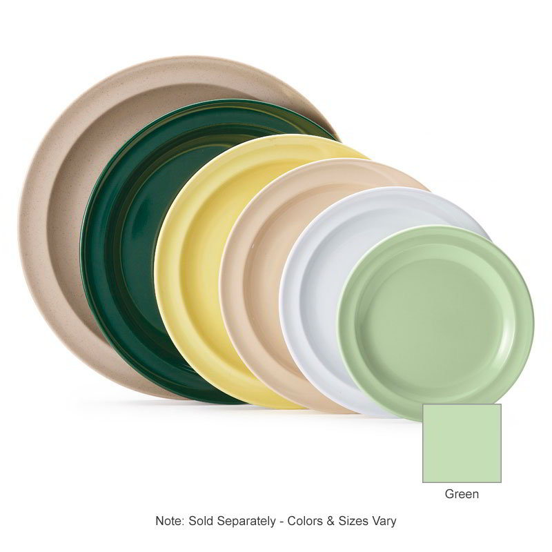 "GET DP-509-G 9""Dinner Plate, Melamine, Green, Supermel"