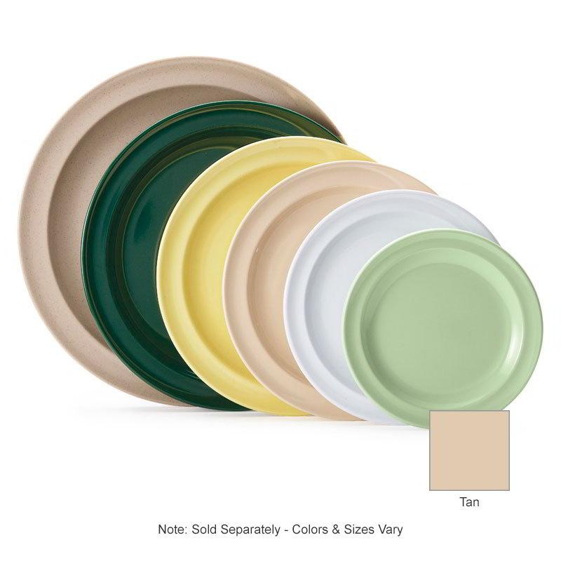 "GET DP-510-T 10.25"" Round Dinner Plate, Melamine, Tan"