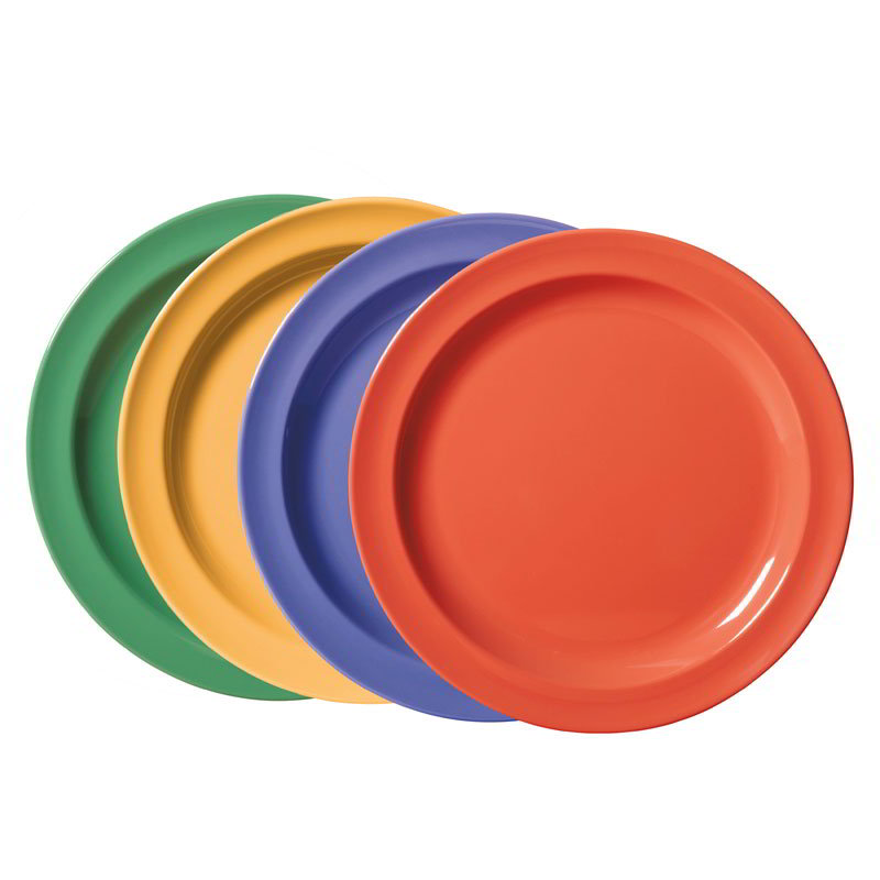 "GET DP-906-MIX 6.5"" Supermel Salad Plastic Plate, Mix Pack Of Mardi Gras Colors"