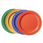 "GET DP-910-MIX 10"" Supermel Dinner Plastic Plate, Mix Pack Of Mardi Gras Colors"