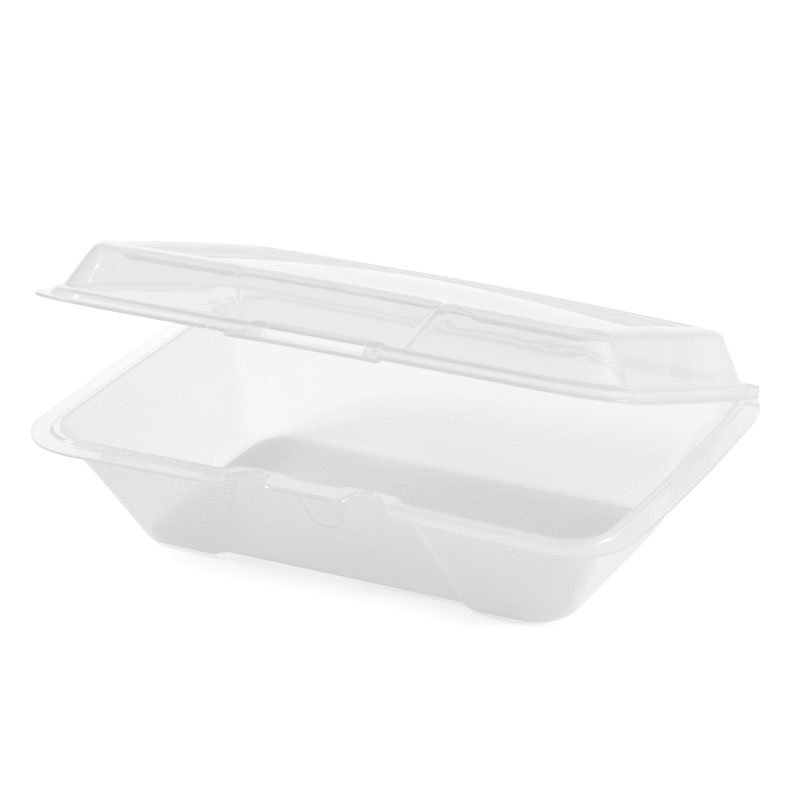 GET EC-04-CL Eco Take Out Series, 1 Compartment, 9 x 6-1/2 x 2-1/2, Poly, Clear Plastic