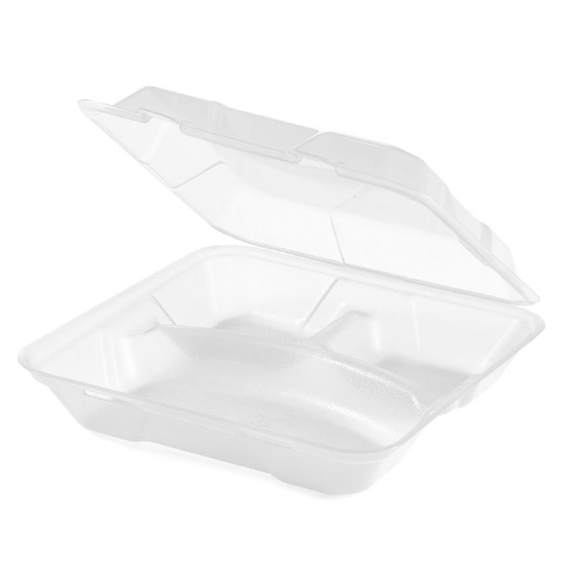 "GET EC-06-1-CL To Go Food Container, 9"" x 9"" x 3.5"", Polypropylene, Clear"