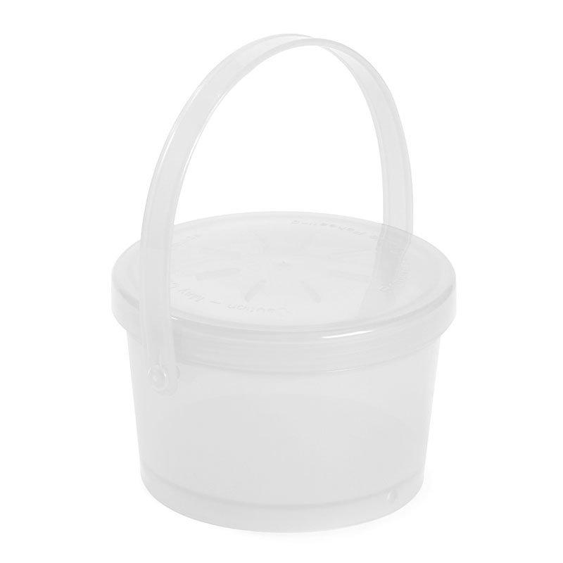 GET EC-07-1-CL 12-oz Eco Takeouts Soup Container w/ Lid & Handle, Clear Plastic