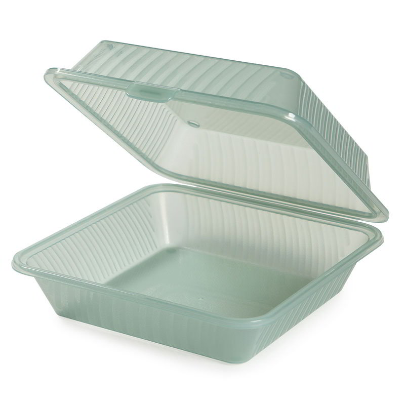 "GET EC-10-1-JA Eco Takeouts Food Container w/ 1-Compartment, 3.5"" Deep, Jade"