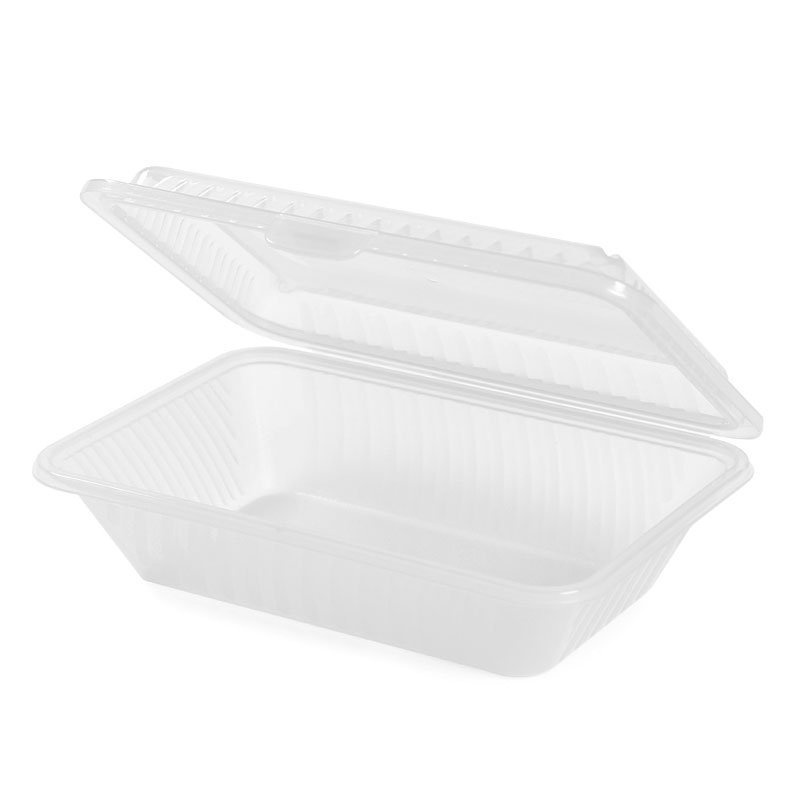 GET EC-11-1-CL Eco Takeouts Half Size Food Container w/ 1-Compartment, Clear Plastic