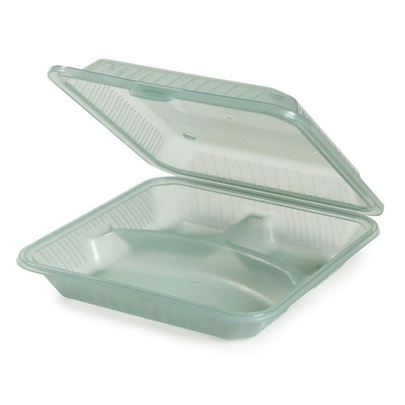 "GET EC-12-1-JA Resuable Eco Food Container, Plastic Dishwasher & Microwave Safe, 9 x 9 x 2.75"", Jade"