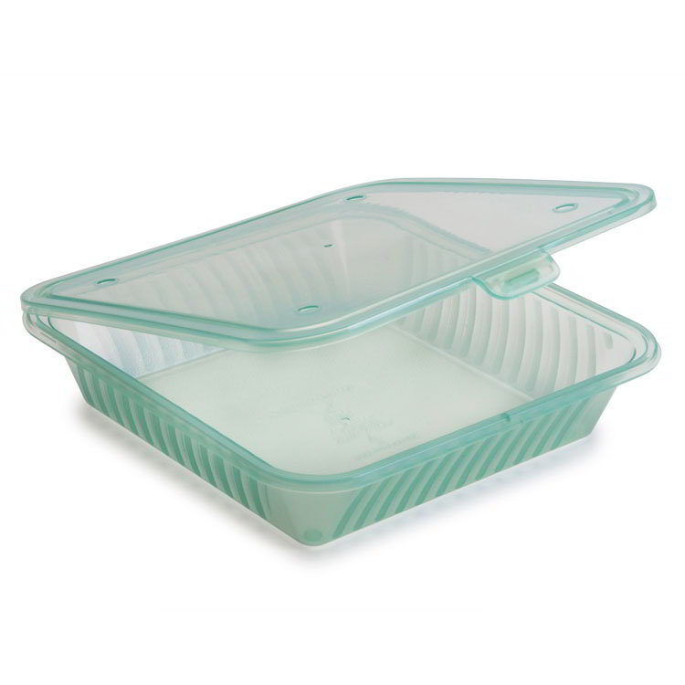 "GET EC-17-JA Eco-Takeouts™ Food Container - 9"" x 9"", Jade"