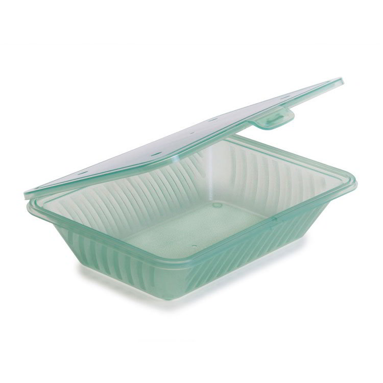 "GET EC-18-JA Eco-Takeouts™ Food Container - 9"" x 6.5"", Jade"