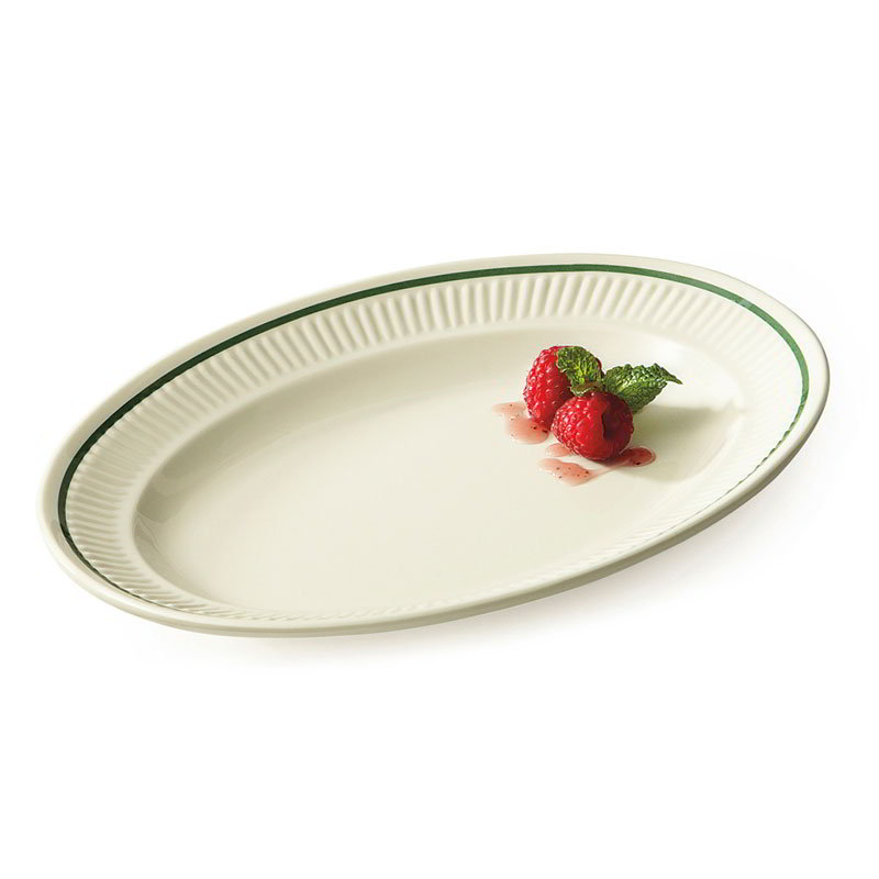 "GET EP-10-K 9-1/4""Platter, Oval, Melamine, Kingston"