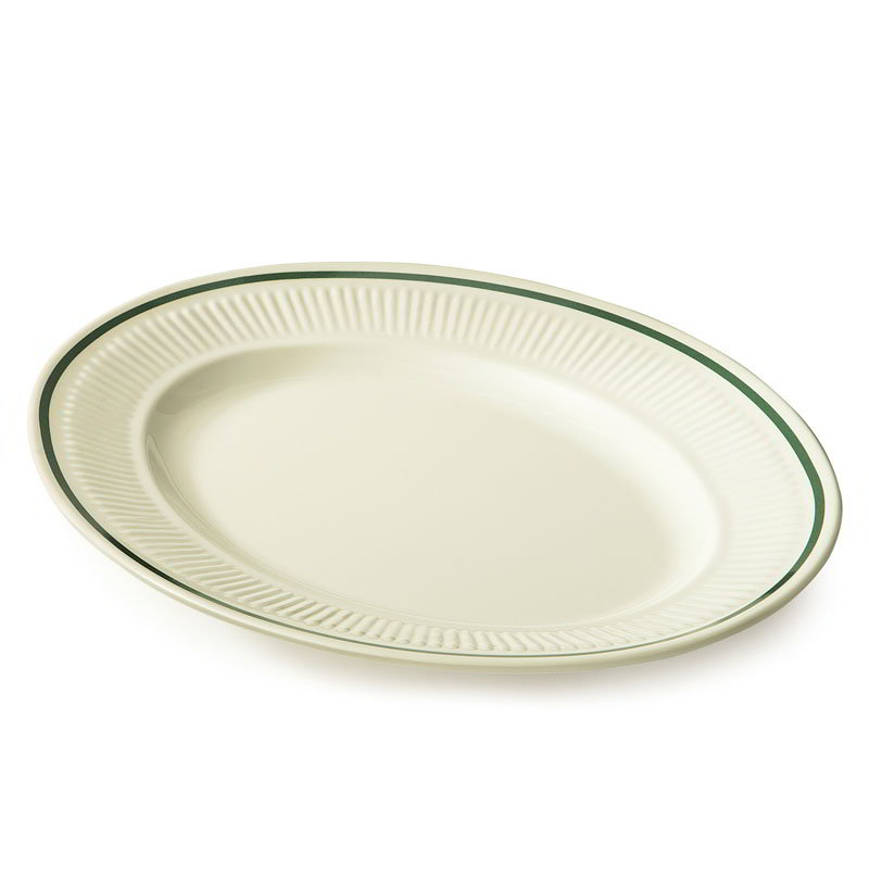 "GET EP-12-K 12""Platter, Oval, Melamine, Kingston"