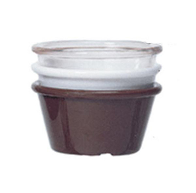 GET Enterprises ER-025-W Ramekin 2-1/2 oz Plain SAN Plastic White Restaurant Supply