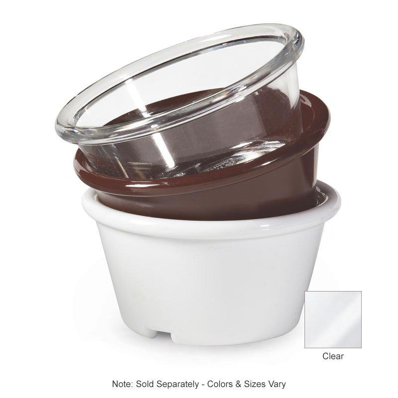 GET ER-025-CL 2-1/2-oz Ramekin, Plain, Melamine, Clear Plastic