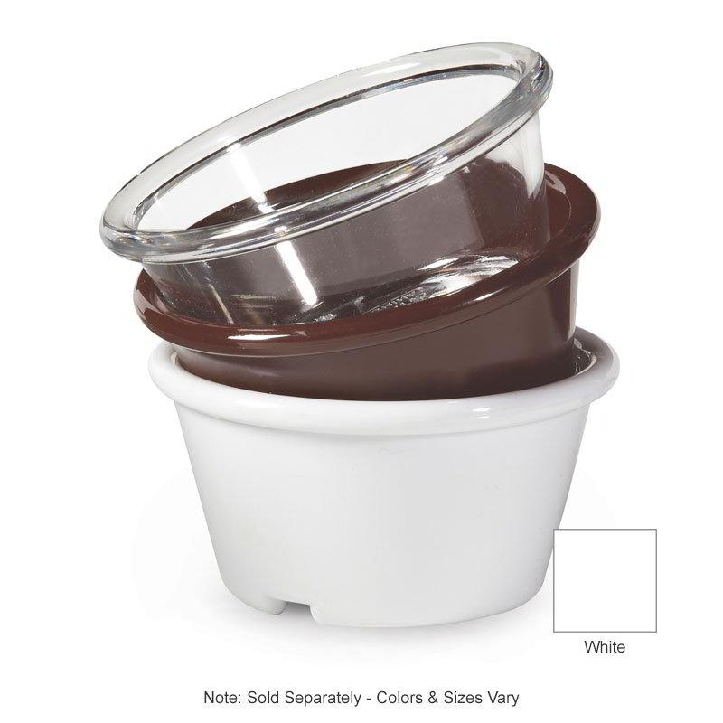 GET ER-025-W Ramekin, 2-1/2-oz, Plain, SAN Plastic, White