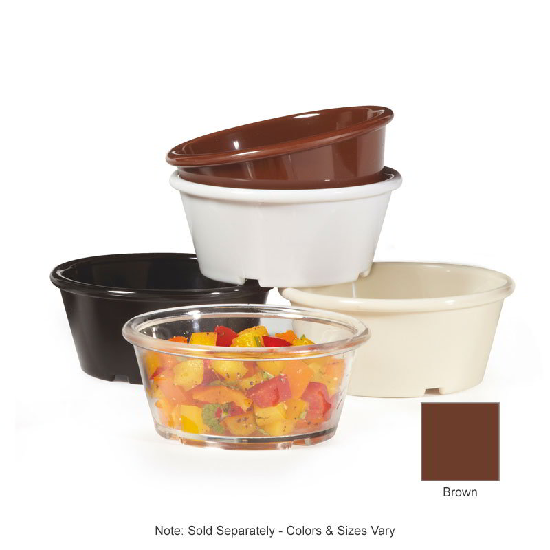 GET ER-040-BR 4-oz Ramekin, Plain, Melamine, Brown