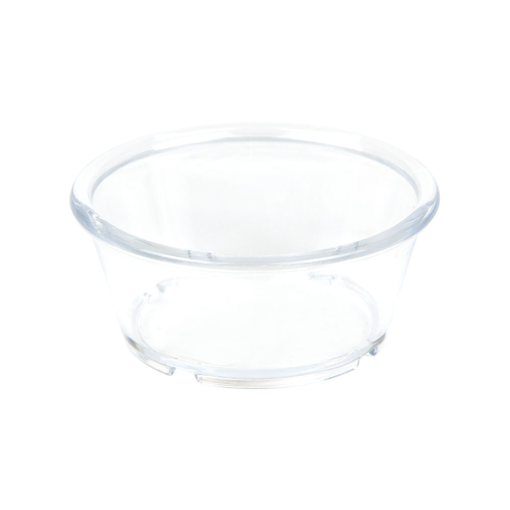 GET ER-040-CL 4-oz Ramekin, Plain, Melamine, Clear Plastic