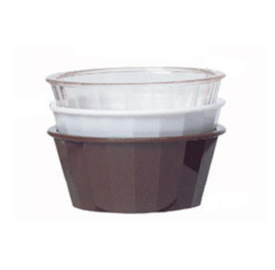 G.E.T ER-045-W 4 oz Ramekin Fluted Melamine White Restaurant Supply