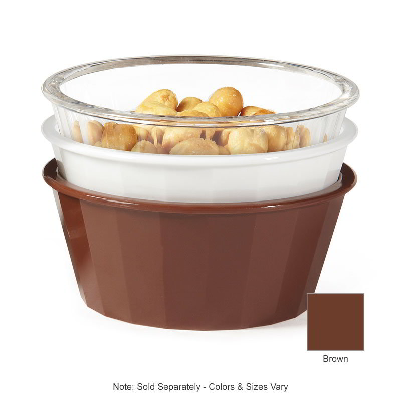 GET ER-045-BR 4-oz Ramekin, Fluted, Melamine, Brown