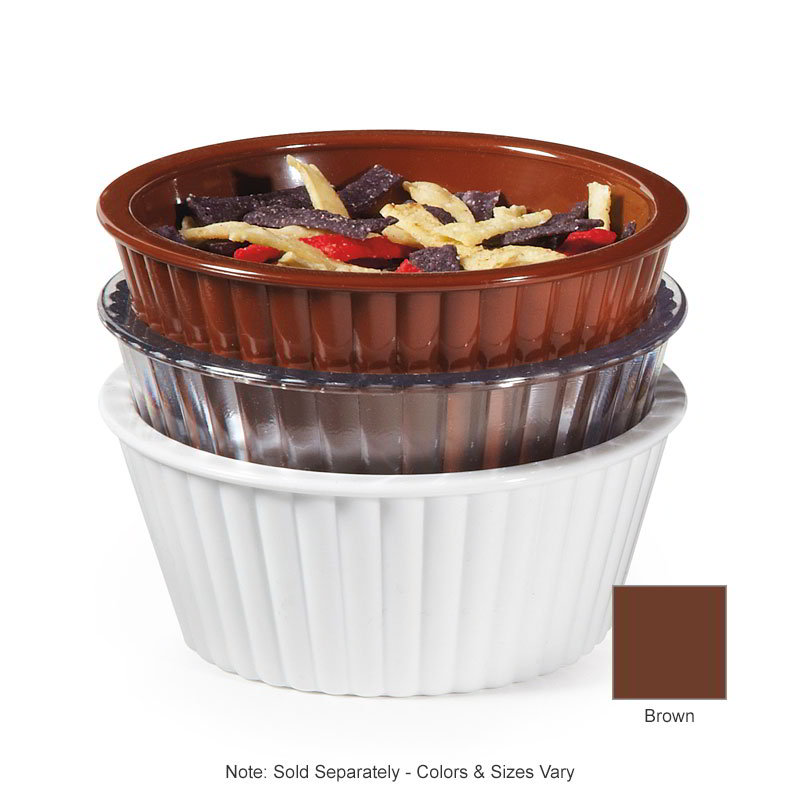 GET ER-404-BR 4-oz Ramekin, Fluted, Melamine, Brown