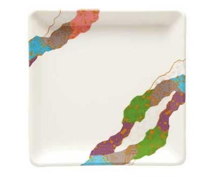 """GET 252-18-CO 7"""" Square Contemporary Melamine Dish"""