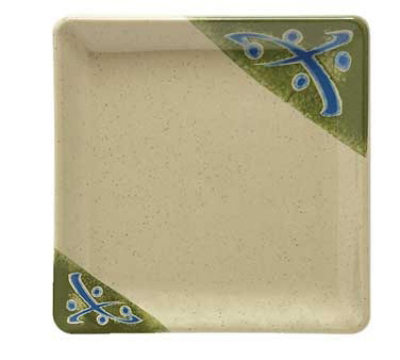 "GET 252-18-TD 7"" Square Traditional Melamine Dish"