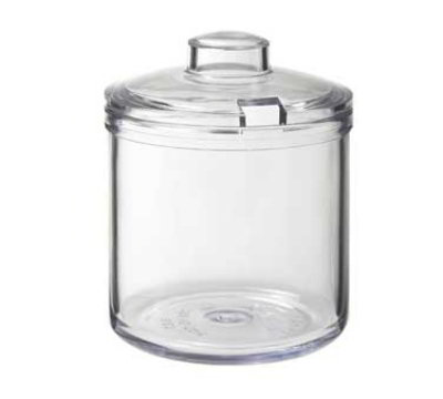 GET CD-8-CL 8-oz Condiment Jar w/ Cover, Clear Plastic