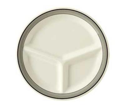 """GET CP-10-CA 10.25"""" Diamond Cambridge Plastic Plate w/ 3-Compartments"""
